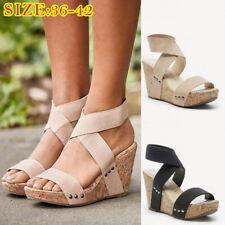 Summer Women s Sandals Elastic Band Casual Platform Round Toe Sandals