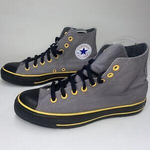 Converse Chuck Taylor High Top Grey/Yellow/ Black Bottom Unisex Mens 7 Women's 9