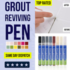 Grout Pen Anti-mould Reviver Repair Restoration Whitener Renew Cleaning Brush Uk