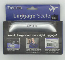 TAYLOR Luggage Scale Clip To Suitcase Up To 88 lbs.