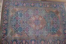 Fine Antique Circa 1900Persian Mohtasham Worn Keshan Rug