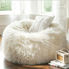 Fluffy Bean Bag Chairs for Adults Kids Sofa Couch Cover Plush Faux Fur  Lounger 40e1974043