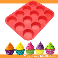 Silikon Muffinform / Backform Muffin Muffinförmchen Kuchen Backen Cup Cake