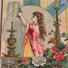 1881 Murry & Lanman Florida Water Perfume Fountain Victorian Trade Card