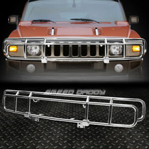 FOR 03-09 HUMMER H2 OE STYLE CHROME STAINLESS STEEL FRONT BRUSH GRILLE GUARD KIT