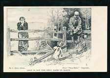 Sport GOLF Not the Only Game Lady Player line drawing artist C Gibson 1905 PPC