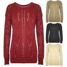 Langarm Damen-Pullover & -Strickware aus Acryl mit grober Strickart