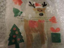 Christmas Reindeer Window Gel Clings Stickers, Present, Trees Bell