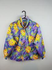 Vintage Retro para Mujer Loco brillante audaz Deportes Atléticos invierno abrigo chaqueta de esquí 12-14