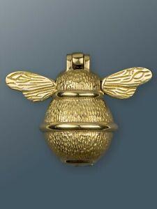 Brass Bee Door Knocker - Brass Finish - Solid Brass Bumble Bee Door Knocker