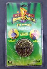 Mighty Morphin Power Rangers FM Radio Coin Yellow Ranger w/ Box Saban 1992