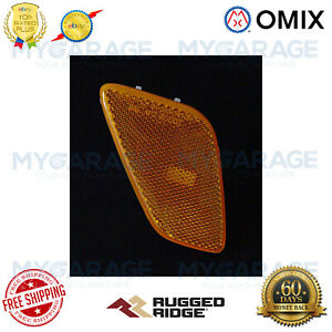 Omix-ADA For 97-06 Jeep Wrangler TJ Side Marker Light Assembly Amber - 12401.08