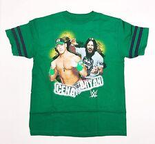 WWE John Cena & Daniel Bryan - Boys Small Green T-Shirt (Ages 8-12)