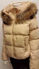 LEE Cooper Short Down Ladies Jacket Cream Beige  Size 8 S   RRP£99.99 B552