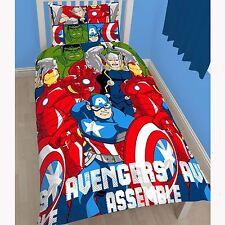 Marvel Avengers Battle Set Housse de couette simple réversible 2 en 1