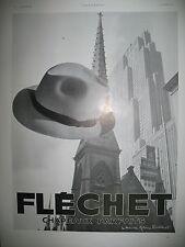 PUBLICITE DE PRESSE FLECHET CHAPEAUX EXPOSITION DE NEW-YORK FRENCH AD 1939