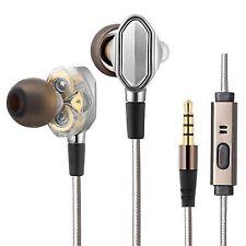 Dual Driver Earphones Collee Super Bass Noise Isolation Danamic HIFI 3.5mm M6q3