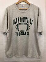 Vintage 80s Russell Athletic T Shirt Sz XXL Jacksonville Football S/S Gray