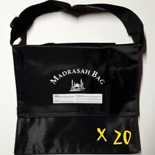 20X CHILDREN'S MADRASAH BAG | SMALL SIZE | WITH STRAP | BLACK | MOSQUE