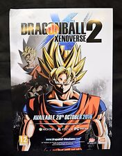 DRAGONBALL XENOVERSE 2 - OFFICIAL RARE A2 PROMOTIONAL POSTER (NOT A GAME)