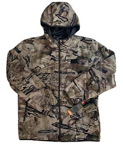 Under Armour UA Brow Tine Barren Camo Men's Hooded Hunting Jacket 1355316 S 2XL