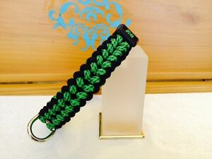 Custom Made BLK/Green Spec Camo Paracord Dog Collar