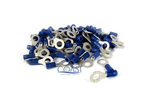 Xscorpion RTT14B—16-14 Gauge #1/4 Hole Ring Terminals Blue (100 PCS)