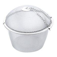Extra Large Stainless Steel Twist Lock Mesh Tea Ball Tea Infuser & Hook Chain LW