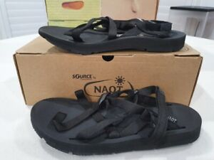 SOURCE by NAOT 37 6 SHORE amphibious rubber sandals BLACK RRP $159 New in Box