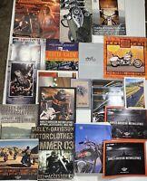 Lot 2000-2006 Harley-Davidson motor accessories and genuine motor parts catalog