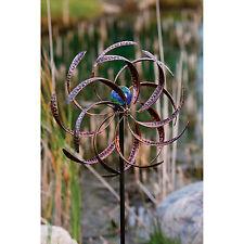 Illuminarie Leaf Dual-Motion Rotating Garden Windmill
