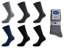 6 hasta 42 X PAR CALCETINES DE HOMBRE 100% Algodón Gris Negro Azul Antracita