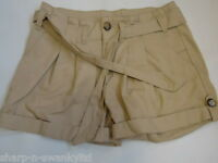 ☆ NEW LOOK Ladies Beige Cotton Belted Paperbag Hot Pants Shorts UK 6 EU 34 ☆