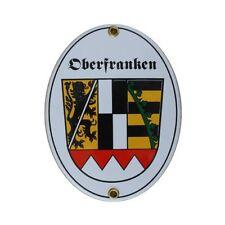 Oberfranken Bayern Email Schild Fahne Emaille 11,5 x 15cm NEU