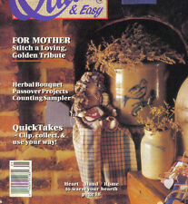 Quick & Easy Cross Stitch Magazines -April/May 1990