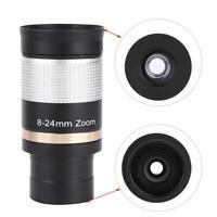 Datyson 1.25in 8-24mm Zoom Eyepiece Multi Coated Optic Lens Telescope Accessory