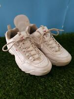 Fila Distruptor Trainers White & Rose Gold Size UK 4.5