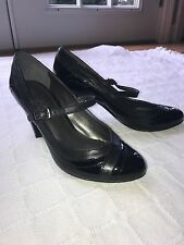 Aldo Black Patent Leather Mary Jane Pumps Size 35 in Great Condition