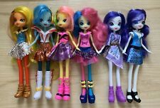 My Little Pony Equestria Girls Doll Lot of 6 Dressed Dolls Hasbro stand