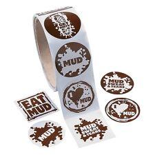 Mud Run Sticker Roll (100 Stickers) I Love Mud