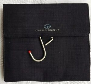 OZWALD BOATENG Black Hanging Toiletry Amenity Travel Kit Cosmetic Case/Bag NEW