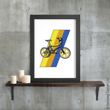 BMX Mag Burner A3 Poster Print Bike Cycling Art Extreme Sports 1980s Grifter