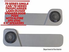 Toyota LandCruiser 78/79 Series (Single Cab) Speaker Door Pods- Alpine Speakers