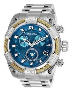 Invicta Bolt Chronograph Blue Dial Stainless Steel 51mm Men's Watch 26990