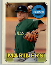 Sam Carlson 2018 Topps Heritage Minor GLOSS FRONT Glossy Parallel #23 Mariners