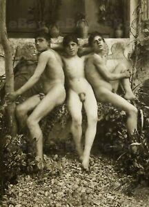 13x18cm ArtPrint Vintage photo male nude 1900s Wilhelm von Gloeden Gay Int 0010