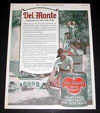 1918 OLD MAGAZINE PRINT AD, DEL MONTE CANNED FRUIT, WORKING TO WIN THE WAR!