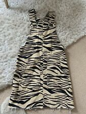 Girls River Island Tiger Print Age 10 Years Pinafore RRP £28 Worn Once
