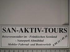 Aufkleber Sticker San Aktiv Tours Reiseveranstalter Decal (3557)