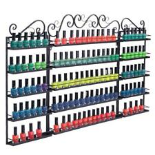 New 5 Tier 3Pcs Nail Polish Display Metal Racks Wall Holder Organize 200 Bottles